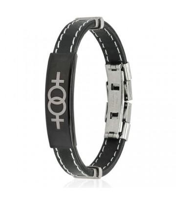 Bracelet plaque lesbienne