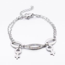 Bracelet Amour double Vénus