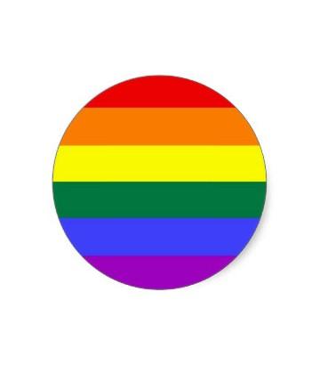 Autocollant rond rainbow