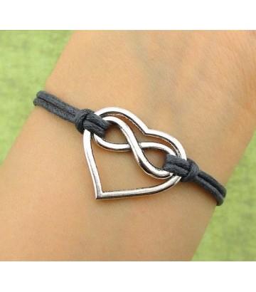 Bracelet coton coeur