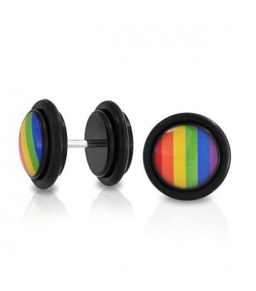 Boucle fake plug rainbow
