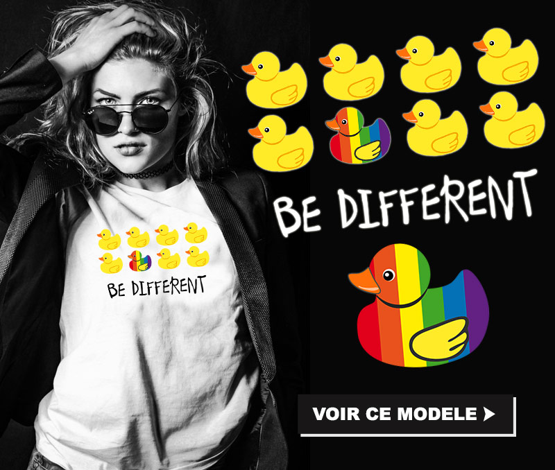 tee shirt lesbien BE DIFFERENT