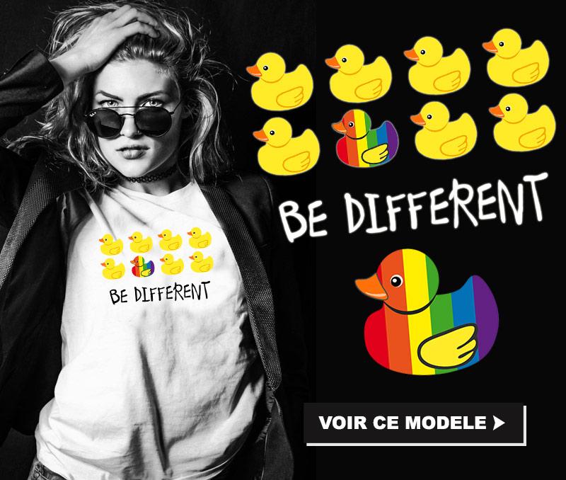 tee shirt lesbien BE DIFFERENT