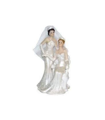 Figurine gâteau mariage lesbien
