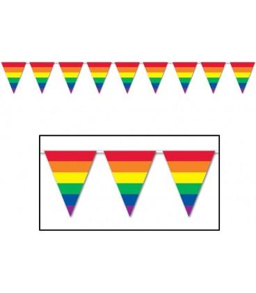 Guirlande de fanions rainbow