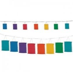 Guirlande Lanternes rainbow