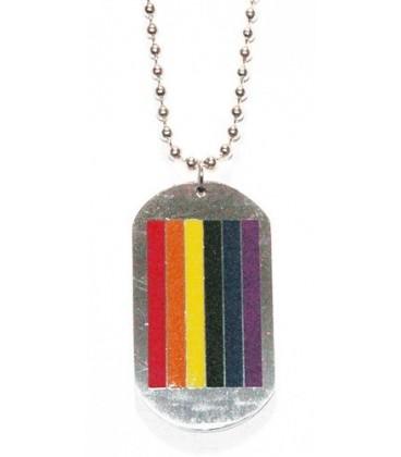 pendentif plaque métal army gay lesbien