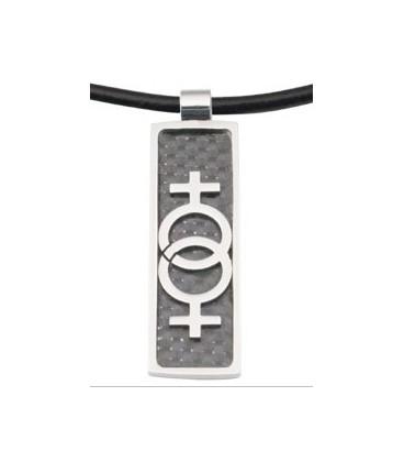 pendentif vénus lesbien design fibre de carbonne