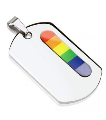 pendentif plaque gay lesbien en acier army