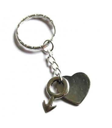 Porte clés coeur gay