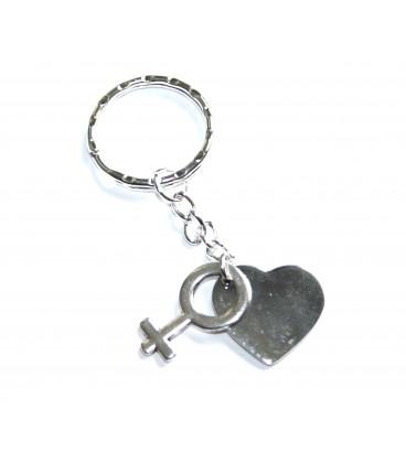 Porte clés coeur lesbien