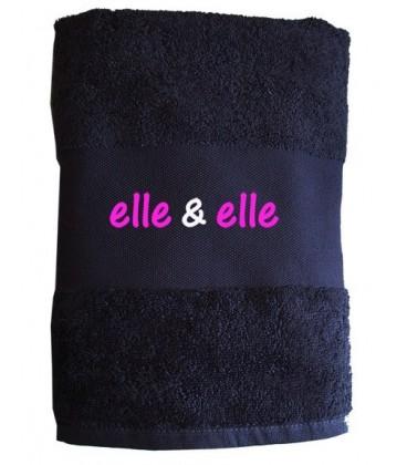 """Serviette de toilette """"Elle et Elle"""" cadeau pour lesbienne"""
