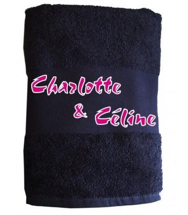 Serviette toilette à personnaliser rose cadeau lesbien
