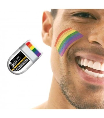 maquillage rainbow gay lesbien gaypride