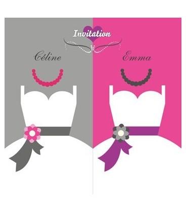 Faire part robes mariées