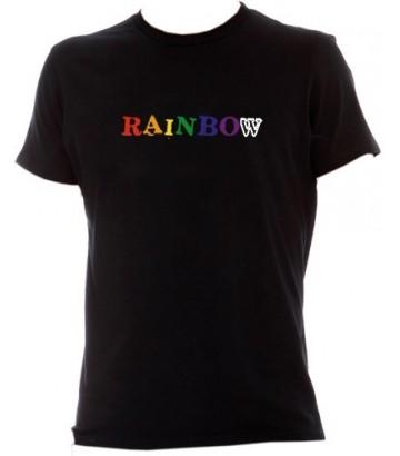 Tee-shirt gay RAINBOW noir