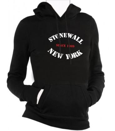 """Sweat capuche noir """"STONEWALL NY"""""""