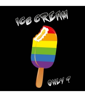 T shirt gay lesbien Ice cream Only glace arc en ciel