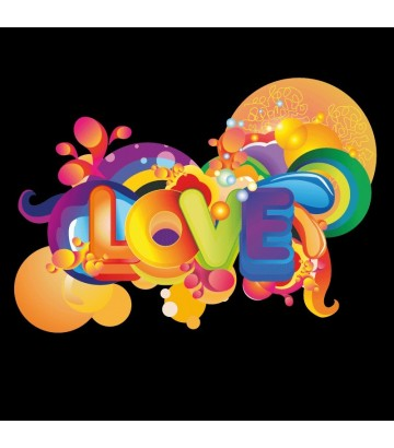 T shirt Love rainbow
