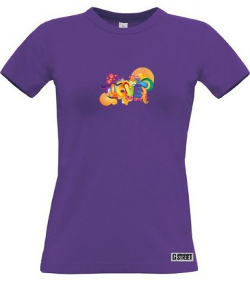 T shirt Love rainbow