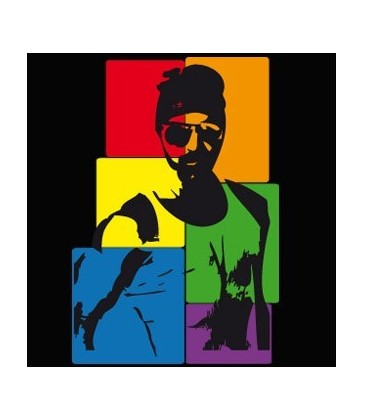 T Shirt Man Case Rainbow