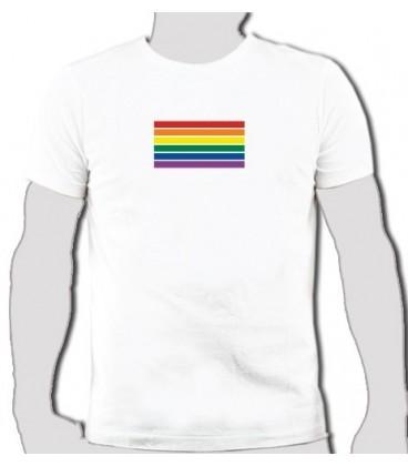 T shirt Rainbow Flag drapeau gay lesbien