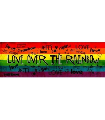 Tableau toile Love over the rainbow