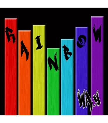 Tableau toile Rainbow Way