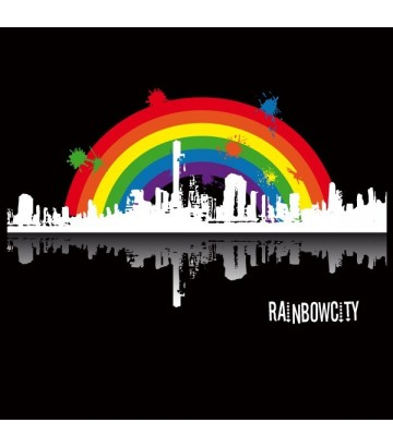 T Shirt Skyline Rainbow gay lesbien New York