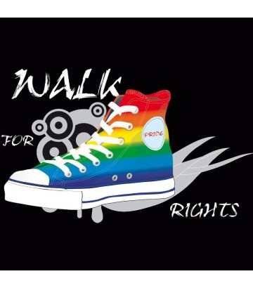 T shirt gay lesbien Walk For Rights