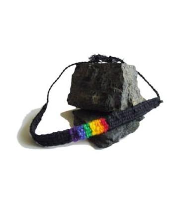 Bracelet brésilien noir/rainbow