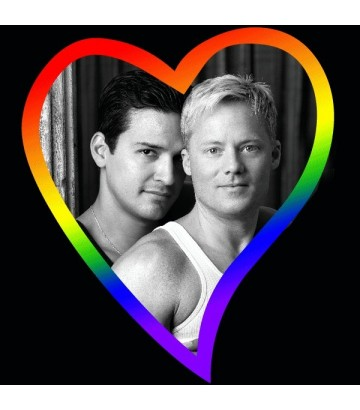 Tee shirt coeur rainbow