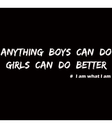 Tee shirt ce que font les hommes les femmes peuvent faire mieux