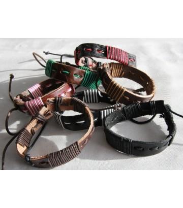 Bracelet cuir et cordes