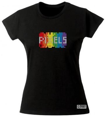 Tee shirt Pixel Rainbow