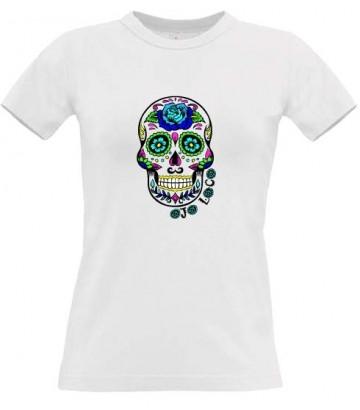 tee shirt femme tete de mort mexicaine