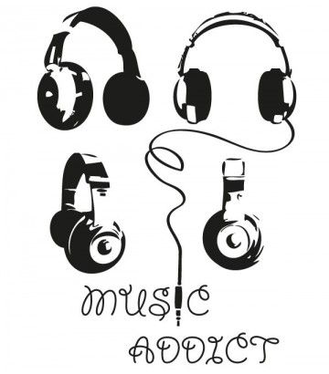 Tee shirt Music Addict