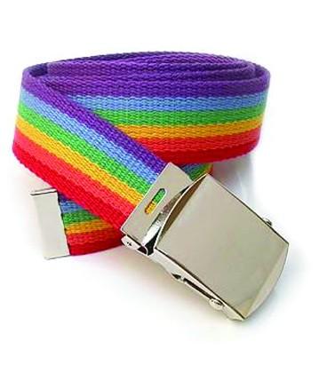 Ceinture gay lesbien rainbow avec boucle