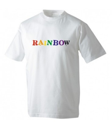 Tee-shirt gay RAINBOW blanc