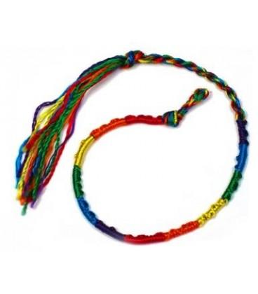 Bracelet amitié rainbow satin
