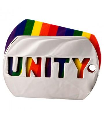 Plaque métal Rainbow Unity