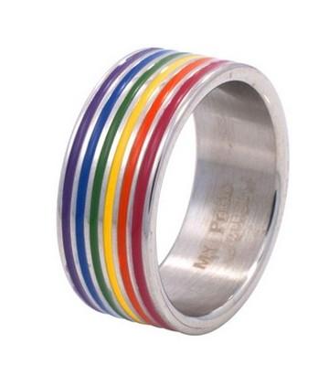 Bague Rainbow gaypride LGBT pour gay et lesbiennes