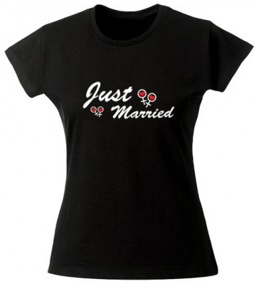 Tee shirt Just Married lesbien