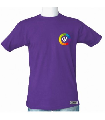 T shirt colors rainbow - M coupe Homme