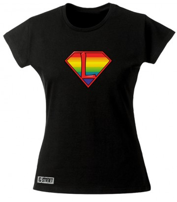 Tee shirt lesbien Super L superman