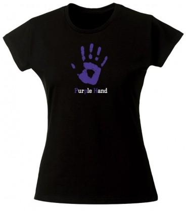 T shirt Purple Hand