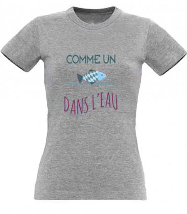 T shirt Comme un poisson dans l'eau