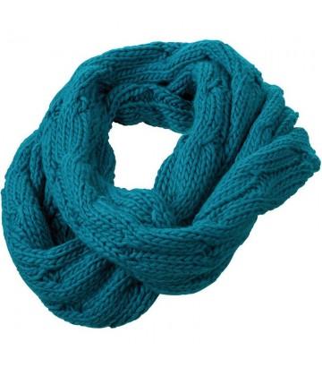 Echarpe tube bleue