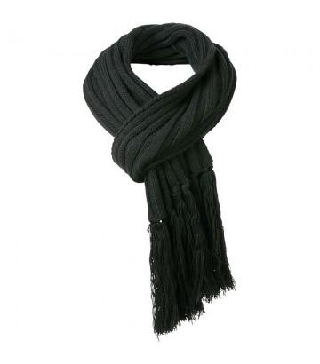 Echarpe noire tricot