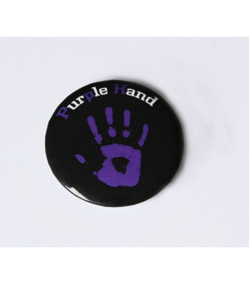 Badge Purple Hand